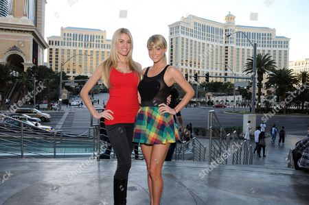 Playboy Playmate February 2010 Heather Rae and Playboy Playmate of the Year 2007 Sara Underwood
