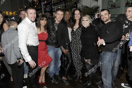 Karen Bryson (C), Tina Malone (3R), Ciaran Griffiths (2R) and guests