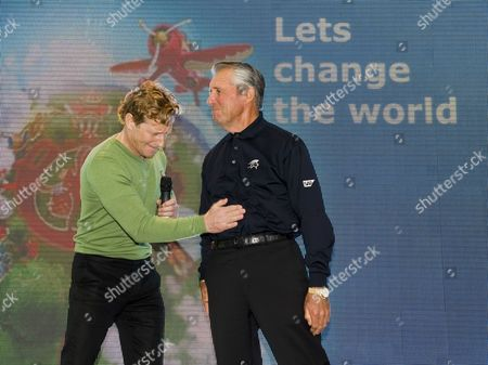 Magnus Scheving and Gary Player