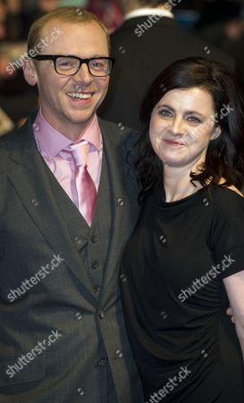 Simon Pegg and wife Maureen McCann