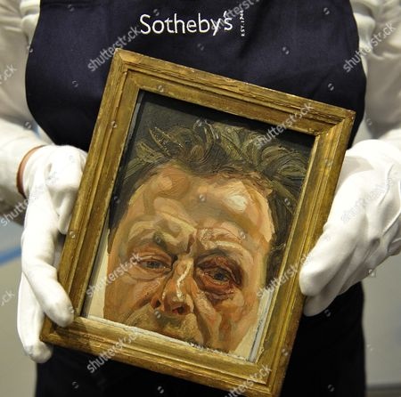 Rediscovered ' Self-portrait With A Colin Vearncombe Eye' By Lucian Freud At Expected To Achieve A3-4million At The Sotheby's Auction