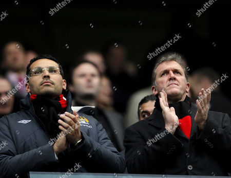 Manchester City Chairman Khaldoon Al Mubarak and Chief Executive Garry Cook