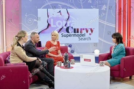 Sarah Watkinson, Mark Heyes and Ali Hall with Lorraine Kelly.