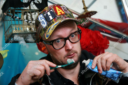 Editorial photo of Comedian Matt Whistler, who plans to live on display in a greenhouse for 30 days, Brighton, Britain - 05 Feb 2011