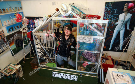 Editorial image of Comedian Matt Whistler, who plans to live on display in a greenhouse for 30 days, Brighton, Britain - 05 Feb 2011