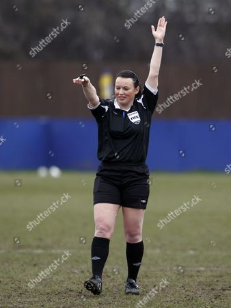 Stock Image of FA Women's Premier League - Nottingham Forest Ladies v Reading Ladies - Female referee Helen Fulcher