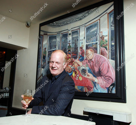 Film producer Stephen Evans in Bentley's Restaurant, PiccadillyLondon