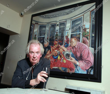 Artist John Wonnacott in Bentley's Restaurant, Piccadilly , London
