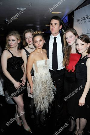 Stock Picture of Isabel Ellison, Lisa Backwell, Isabella Brazier-Jones, Tobias Menzies, Eve Ponsonby and Marama Corlett