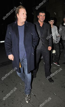 Editorial picture of Mickey Rourke and Joe Calzaghe at the C restaurant, London, Britain - 9 Feb 2011