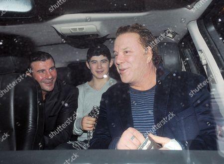 Joe Calzaghe, Joseph Calzaghe and Mickey Rourke