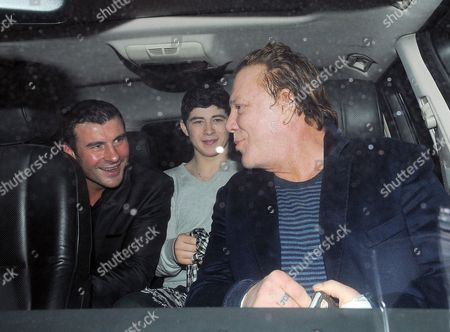 Editorial image of Mickey Rourke and Joe Calzaghe at the C restaurant, London, Britain - 9 Feb 2011