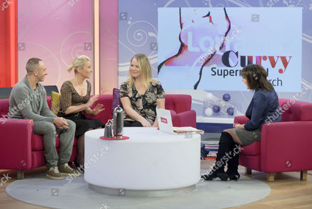 Mark Heyes, Ali Hall and Sarah Watkinson with Lorraine Kelly