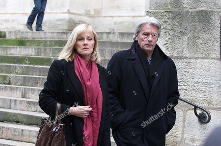 Alain Delon and Elisa Servier