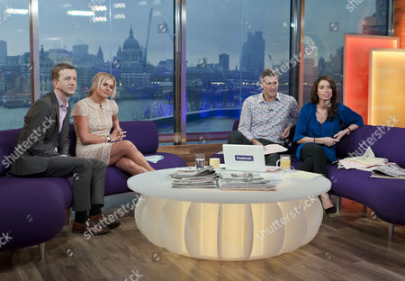 Phil Reay-Smith and Katy Hill with Dan Lobb and Christine Bleakley
