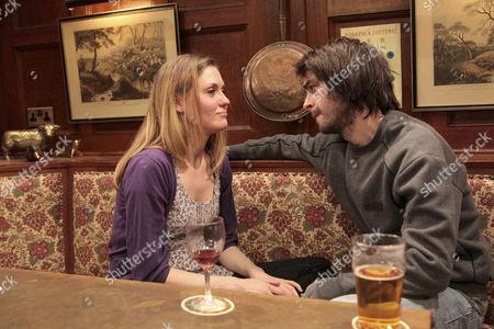 Eli Dingle [Joe Gilgun] is conflicted when Olena Petrovich [Carolin Stoltz] confides that she doesn't reciprocate Sam Dingle's feelings.