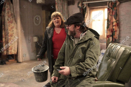 Zak Dingle [Steve Halliwell] is furious to see that Shadrach Dingle [Andy Devine] is back.
