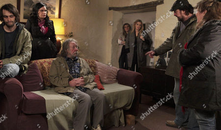 Zak Dingle [Steve Halliwell] tells Shadrach Dingle [Andy Devine] to leave the village.