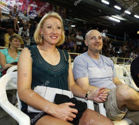 Elena Baltacha with her trainer Nino Severino