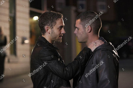 Aaron Livesy [Danny Miller] has enjoyed his date with Jackson [Marc Silcock] who moves in for a kiss and Aaron responds.