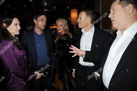 Claire Forlani, Dougray Scott, Amanda Eliasch, Ynon Kreiz and Harvey Weinstein