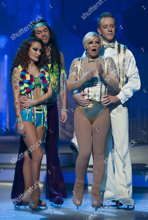 'Comedy' Dave Vitty with dancing partner Frankie Poultney and Kerry Katona with dancing partner Dan Whiston
