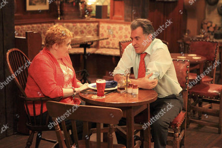 Bob [Tony Audenshaw] unwittingly asks Lizzie [Kitty McGeever] out for a date, and she is delighted.