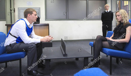 Cain Maisie Wylde [Alice Coulthard] visits Ryan Lamb [James Sutton] in prison.