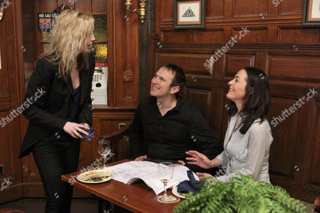 Maisie Wylde [Alice Coulthard] is irritated by Nathan Wylde's criticism of Natasha Wylde [Amanda Donohoe] for moving on when she has a drink with Declan [Jason Merrells].