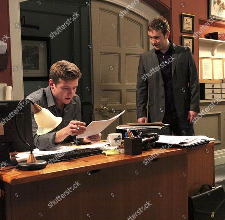 Nathan Wylde [Lyndon Ogbourne] and Declan [Jason Merrells] clash.