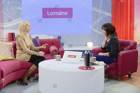 Christina Schmid and Lorraine Kelly