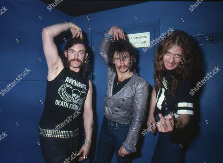 Motorhead - Lemmy, Phil Taylor and Eddie Clarke