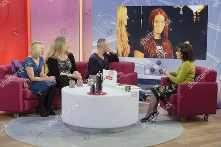 Ali Hall, Sarah Watkinson and Mark Heyes with Lorraine Kelly
