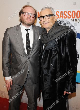 Stock Picture of Vidal Sassoon and director Craig Teper