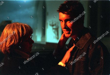 Behind the scenes, Gripped by her illness Zoe accidently sets fire to the church. Marc Reynolds (Anthony Lewis).