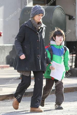 Cynthia Nixon and son Charles Ezekial Mozes