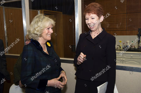 Stock Image of Camilla Duchess of Cornwall with Carole Boyd (who plays Lynda Snell in 'The Archers')