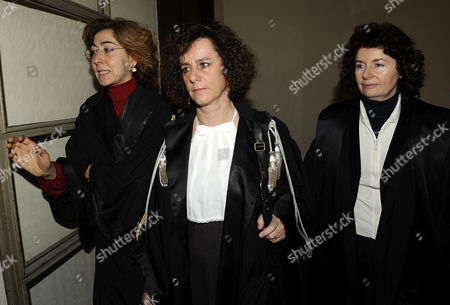 Editorial photo of The three female judges in charge of Prime Minister Silvio Berlusconi's underage sex trial, Palace of Justice, Milan, Italy - 16 Feb 2011