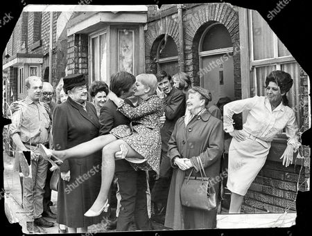 Television Programme: Coronation Street. Dennis Tanner (played By Philip Lowrie) Kisses His Bride Jenny Sutton (played By Actress Mitzi Rogers). Violet Carson (who Plays Ena Sharples Is Pictured Left) And William Roach (who Plays Ken Barlow) Is Pictured 3rd Right Pat Phoenix (who Plays Elsie Tanner) Is Pictured On The Right. Dennis Tanner To Marry And Leave Mum Elsie All Alone. Philip Lowrie Who Plays Dennis Tanner In Coronation Street Will Leave The Series After Eight Years Service. Elsie Tanner Played By Pat Phoenix Has Proved To Be One Of The Biggest Draws For Viewers To The Programme.