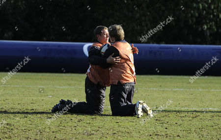 Editorial picture of England Rugby Training Pennyhill Park. Jonny Wilkinson And Matt Tait