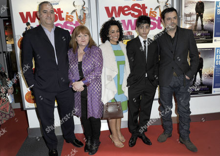 Aqib Khan (2R) and other cast members