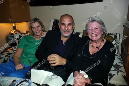 Alan Yentob with his wife Philippa and Angela Flowers