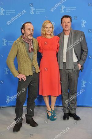 Karl Markovics, Diane Kruger and Sebastian Koch