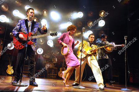'Million Dollar Quartet' - Robert Britton Lyons (Carl Perkins), Francesca Jackson (Dyanne), Michael Malarkey (Elvis Presley), Derek Hagen (Johnny Cash)