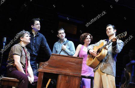 'Million Dollar Quartet' - Ben Goddard (Jerry Lee Lewis), Derek Hagen (Johnny Cash), Robert Britton Lyons (Carl Perkins), Francesca Jackson (Dyanne) and Michael Malarkey (Elvis Presley)