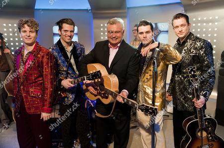 'Million Dollar Quartet' - Ben Goddard (Jerry Lee Lewis), Robert Britton Lyons (Carl Perkins), Michael Malarkey (Elvis Presley) and Derek Hagen (Johnny Cash) and Eamonn Holmes.