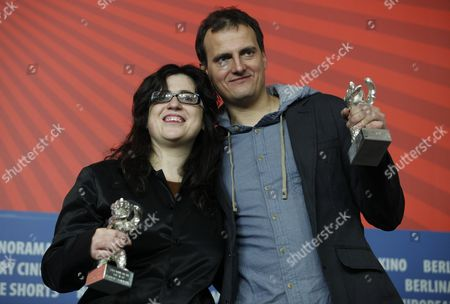 Stock Picture of Paula Markovitch collects the award for winner Barbara Enriquez and Cameraman Wojciech Staron