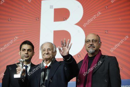 Stock Image of Actors Babak Karim, Peyman Moadi and Ali Asghar Shahbazi