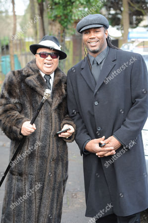 Former undisputed Welterweight champion Lloyd Honeyghan and Lennox Lewis, former undisputed Heavyweight Champion