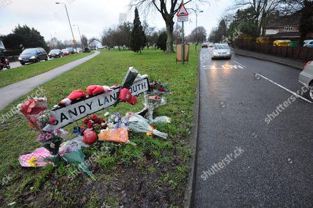 Floral tribute in Wallington, Surrey